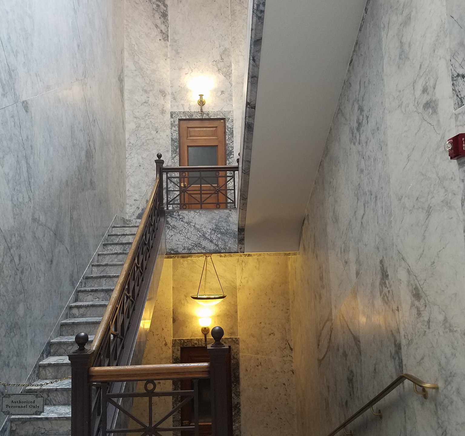 These stairwells are beautiful marble. Don't fall!