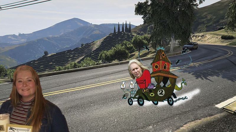 Kirsten Gillibrand stops as a passerby gets ranch.