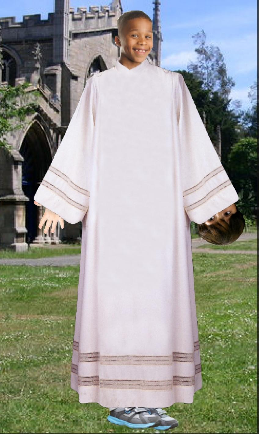 Classic Little Rascals bit in priest robe