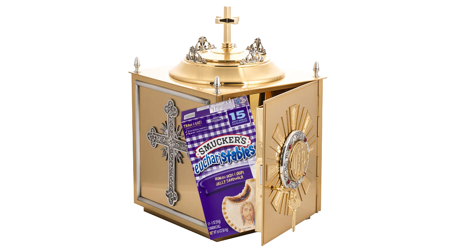 Tabernacle with a bag of Munchies inside