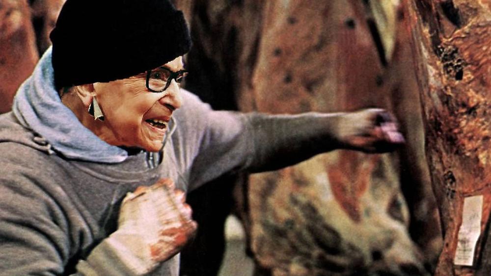 Ruth Bader Ginsburg punching meat