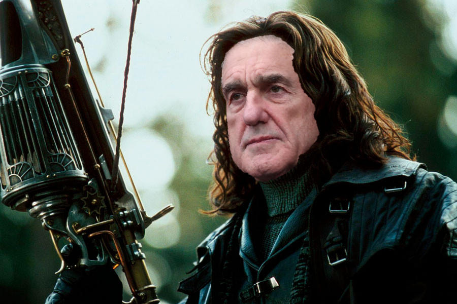 Robert Mueller as a witch hunter from the one movie about hunting witches with the actor who plays wolverine on X-Men, I think