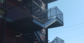 A Quick Stare: The Park Side Cafe--Emergency Stairwell