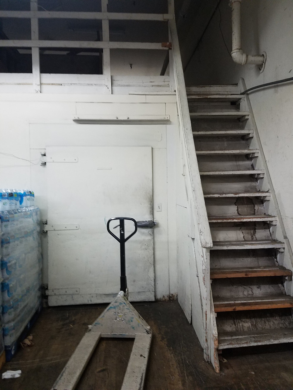 Some stairs in a back room. Enough said