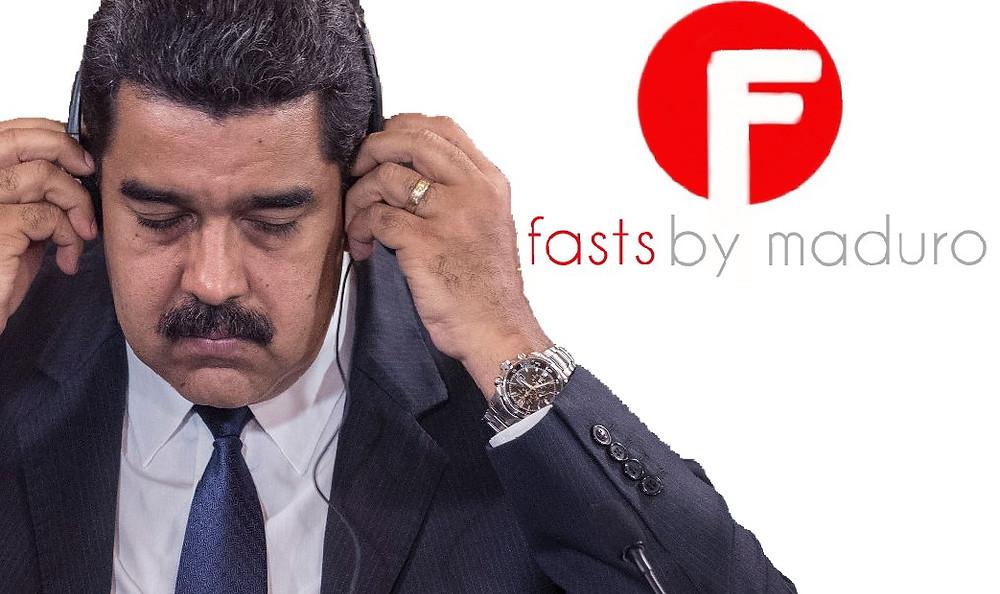 Nicolas Maduro sports knock-off Beats by Dre