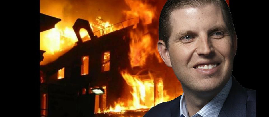 Lost and Confused Eric Trump Starts Fire in Trump Tower