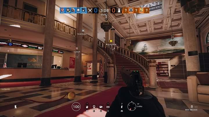 Rainbow 6 Siege Bank Stairwell