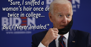"""Biden: """"Sure, I Sniffed a Woman's Hair Once or Twice In College, But I Never Inhaled"""""""