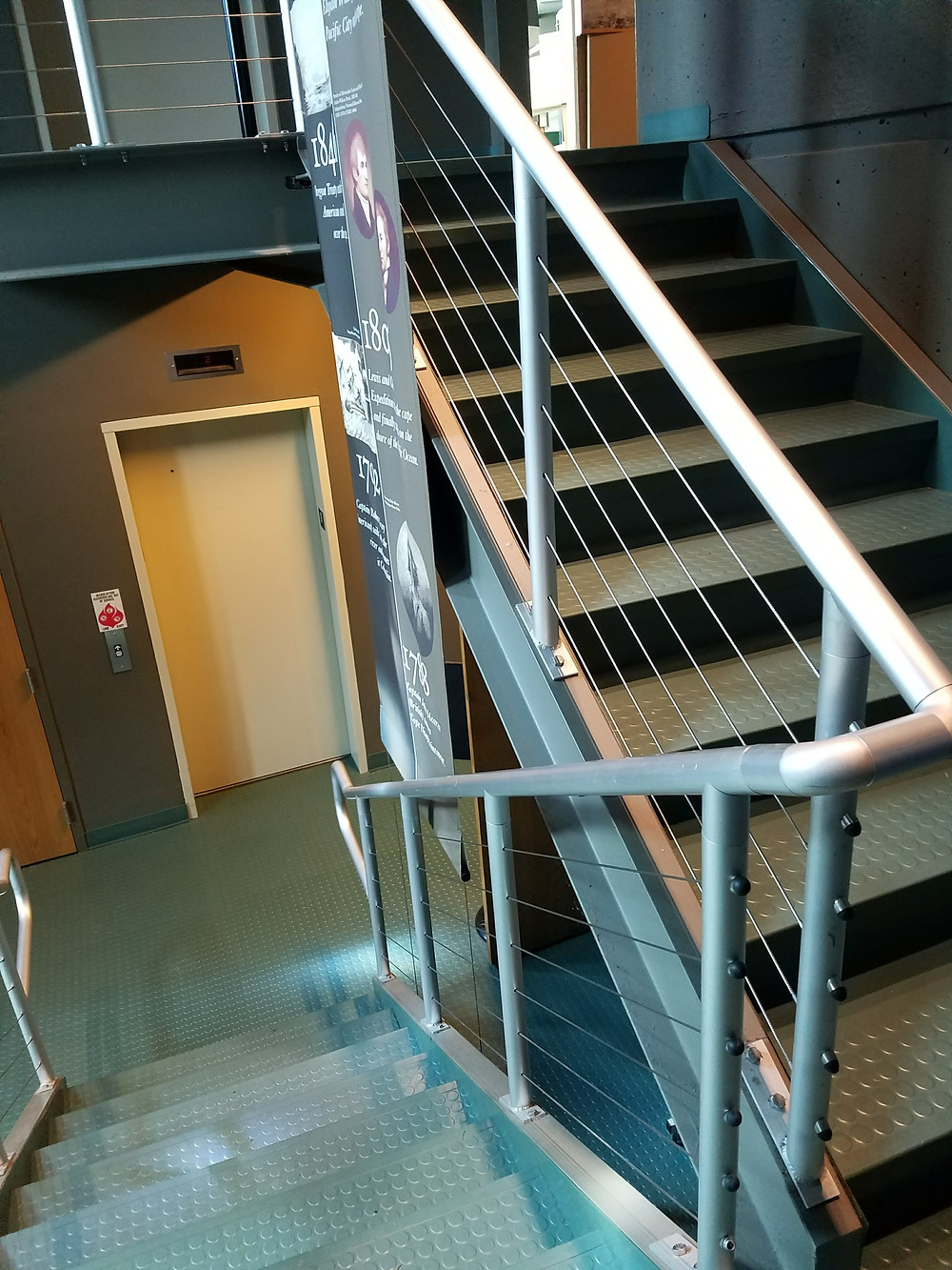 Stairwell of the Lewis and Clark Interpretive Museum