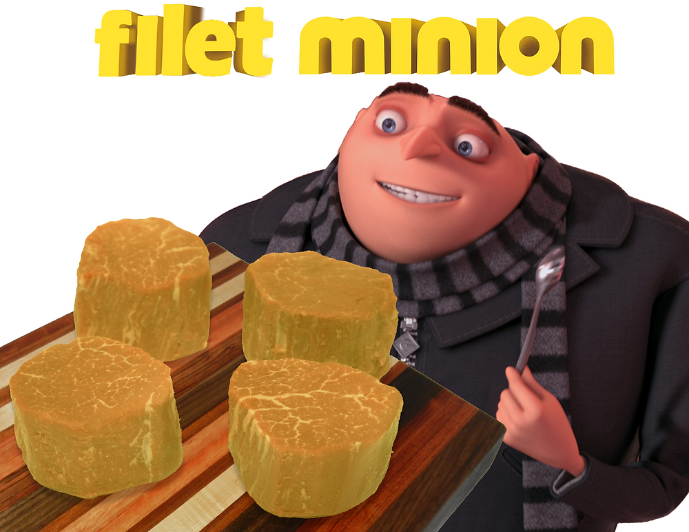 Gru of Despicable Meat shows off his newest product--Filet Minion