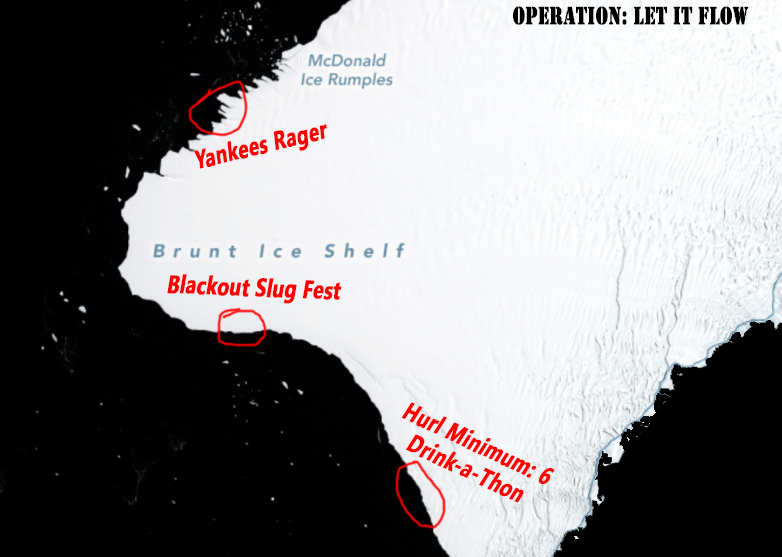 Iceberg Party Locations
