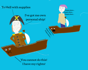 Very Bored Pirates Knee Deep in Ship The Impotent Satyr