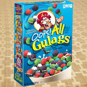 Captain Crunch parody Commy Crunch Oops! All Gulags
