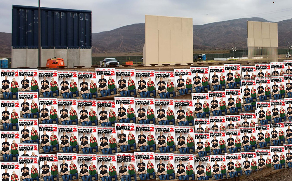 A Mexico/US Border wall made entirely from a bad Will Ferrel movie