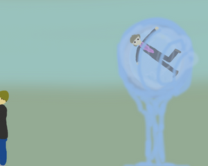 Ministry of Magic Administrator stuck in counfoundable water bubble left to die.
