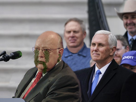 Mike Pence Awkwardly Stands Behind COVID-19-Infected Person Until Virus Leaves Host
