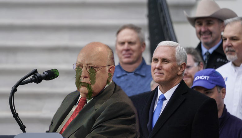 Mike Pence Awkwardly Stands Behind COVID-19-Infected ...
