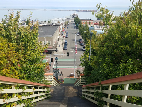 A Quick Stare: Olympic Visions mural, Port Angeles