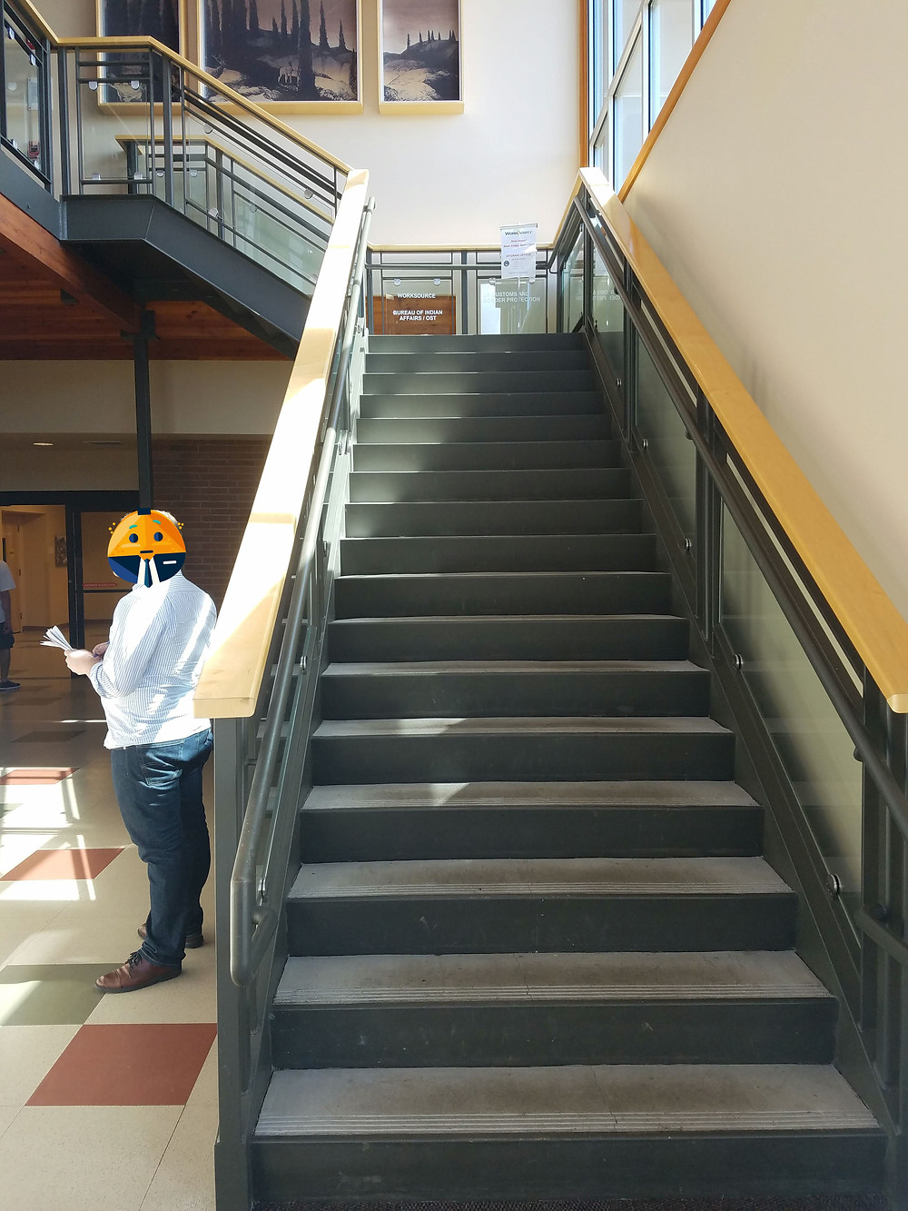 Grays Harbor Work Source stairs