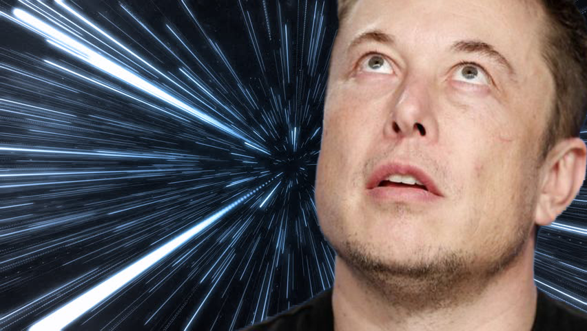 Elon Musk jumping to hyperspace