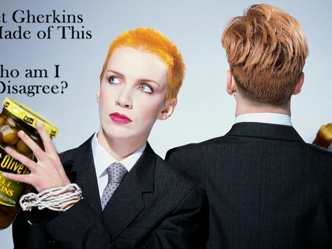 Sweet Gherkins endorsed by The Eurythmics (Eurythpics)