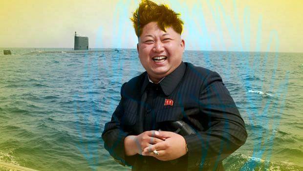 Super Saiyan Kim Jong-un smoking a cigarette