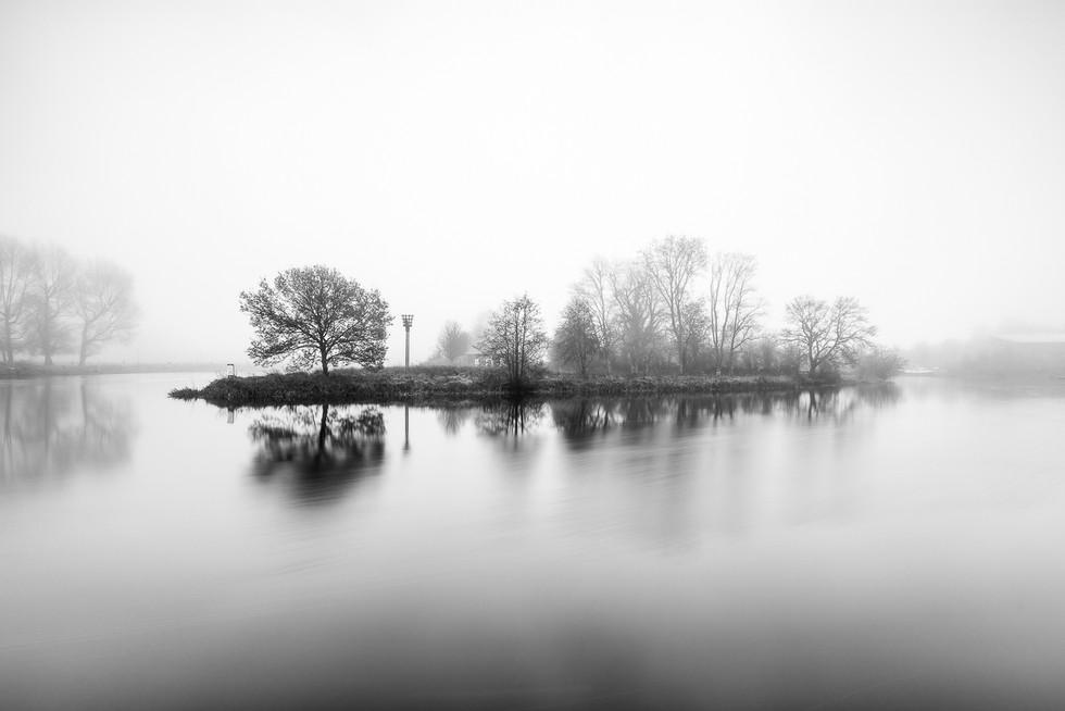 MONO - Island in the Fog by Wayne Hazlett (11 marks)