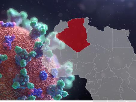 توزيع إصابات ووفيات فيروس كورونا في على ولايات الجزائر