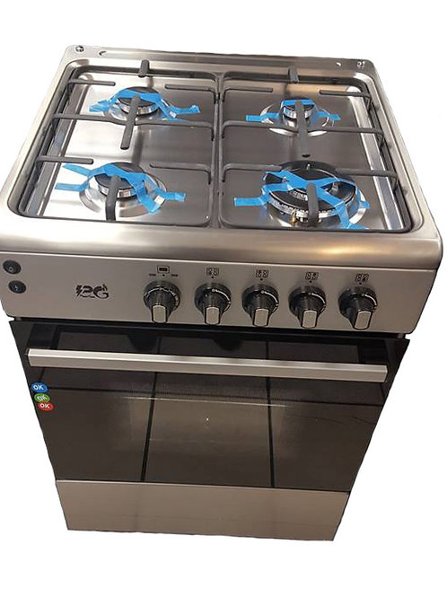 PG60I Silver 60cm Full Gas Cooker