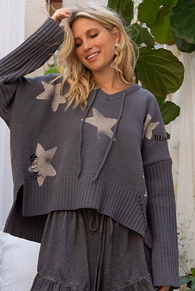 Charcoal Star Sweater