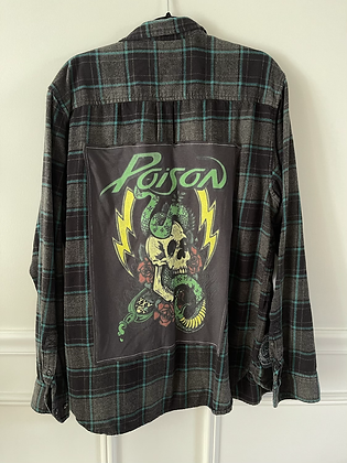 Adult Poison Upcycled Flannel