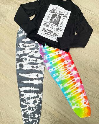 Half & Half Tie Dye Adult Sweatpants