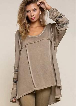 Taupe/Camo Sweater