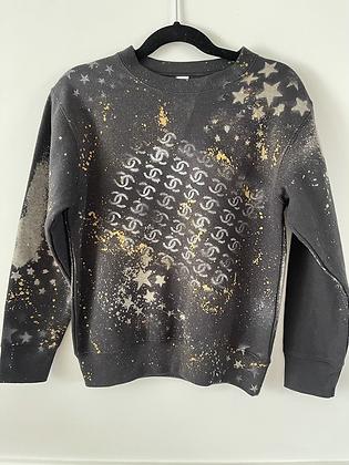CC Splatter Crew Neck Sweatshirt