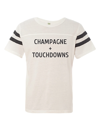 CHAMPAGNE + TOUCHDOWNS (IVORY/BLACK)