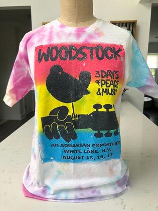Adult MEDIUM - Tie Dye Woodstock Tee
