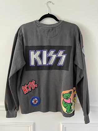 Mix Band Upcycled Crew Neck Sweatshirt