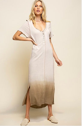 Almond Henley Dress