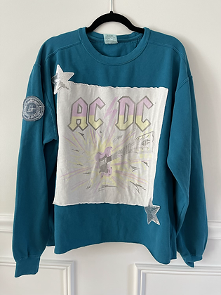 ACDC Upcycled Crew Neck Sweatshirt