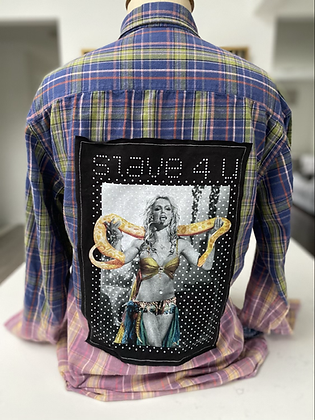 Adult Britney Upcycled Flannel