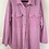 Thumbnail: Oversized Lilac Terry Button Up Shirt