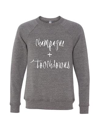 Champagne + Touchdowns Grey/White