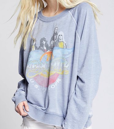 Relaxed Womens Aerosmith Sweatshirt