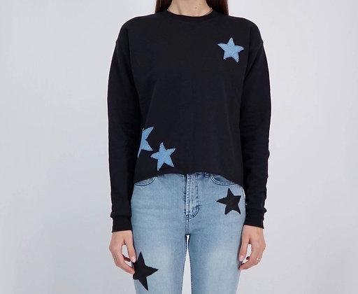 Lucky Denin Stars Sweatshirt