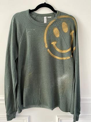 GREEN Splatter x Smiley Sweatshirt