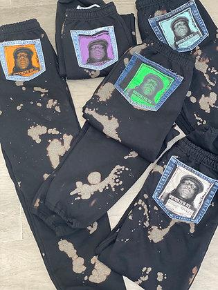 CUSTOM ORDER - Black Biggie Sweats