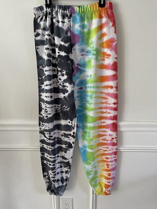 Half & Half Tie Dye Sweatpants