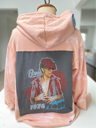 Upcycled Bowie Pullover Hoodie - large
