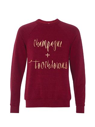 Chamapgne + Touchdowns Burgandy/Gold