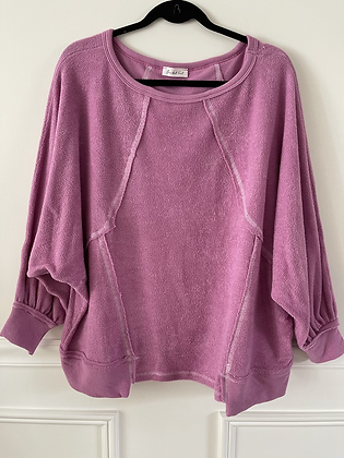 Lilac Terry Pullover